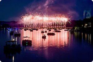 Fireworks over Hidden Valley Lake 2017
