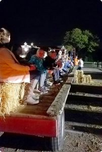 Hay wagon at Hidden Valley Lake Haunted Hayride