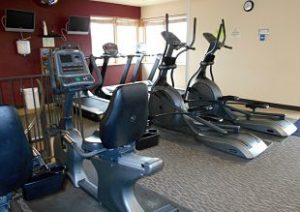 Workout equipment at Hidden Valley Lake Fitness Center