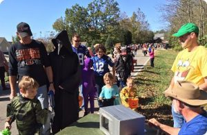 Trick or treaters at Hidden Valley Lake Halloween Walk