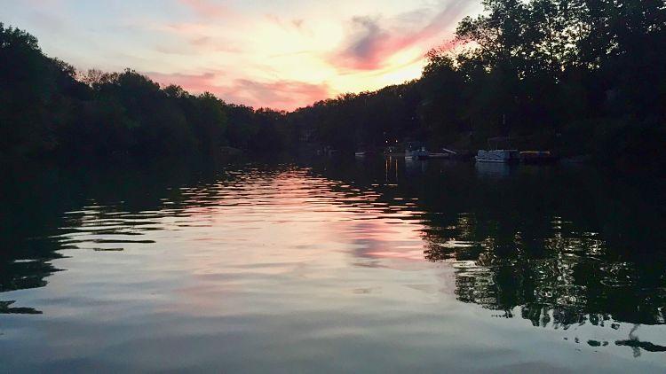 Sunset Shadows over Hidden Valley Lake